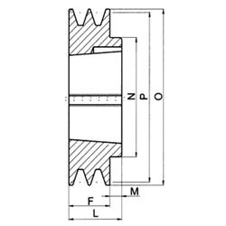 Spb1850lw trapezoidales correas trapezoidales SPB 1850 LW din 7753//ISO 4184